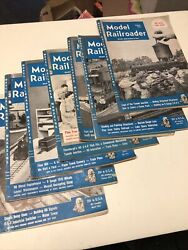 Lot 10 Model Railroader Magazine Year 1952 Issues Vintage Trains Collectible