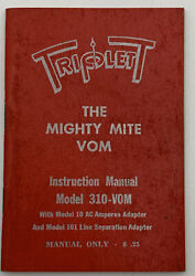 Triplett Instruction Manual The Mighty Mite Vom Model 310-vom Owners Operators