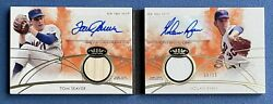 Nolan Ryan And Tom Seaver 2014 Topps Tier One 1 Booklet, Dual Auto Relics D 9/10