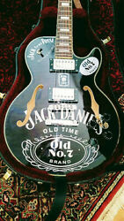 Incredible Limited Custom Made 'jack Daniels' Semi-hollow Arched Elect. Guitar