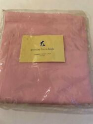 Pottery Barn Kids Pink Chambray Basket Liner X Large Nwt