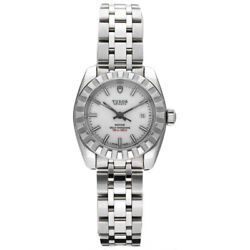 Tudor 22010 Classic Date White Dial Stainless Steel Automatic 28mm Women's Watch