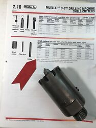 """Mueller 79280 And 37896 2"""" Shell Cutter Kit For D-5 Water Service Drill Machine"""