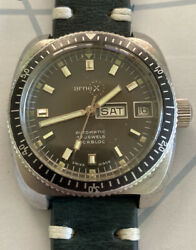 Arnex 17 Jewels Diver 20 Atm Automatic Incabloc Swiss Made All Steel