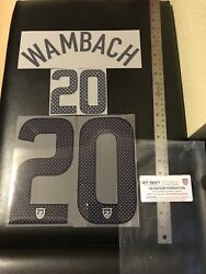 Authentic Usa 2011 Abby Wambach 20 World Cup Nameset Home Jersey Sporting Id