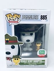 Funko Pop Peanuts Beagle Scout Snoopy with Woodstock 885 Funko Shop Exclusive