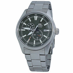 Orient Defender Ii Black Dial Stainless Steel Menand039s Watch Ra-ak0402e10b