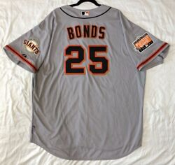 Barry Bonds 52 2xl San Francisco Giants Majestic Cool Base Jersey Made In Usa