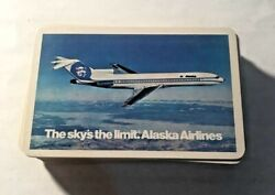 Vintage Alaska Airlines Playing Cards 'the Sky's The Limit' Pack Hk