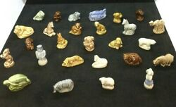 Mixed Lot 27 Wade England Whimsy Red Rose Tea Figurines Collectible Unique