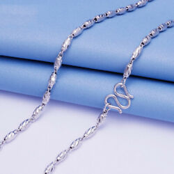 Real Pt950 Platinum 950 Necklace For Man Women Beads Domineering Chain 20''l