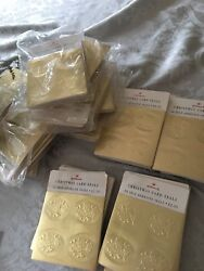 Vintage New In Package Hallmark Christmas Gold Gift Card Foil Seals 2000pcs
