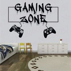 Gamer Video Game Controller Wall Decal Vinyl Wall Sticker Large Free Shipping