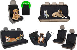 Dog Front Rear Car Seat Covers For Pets Travel Universal Fit Auto Truck Van Suv
