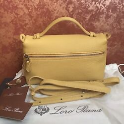 loro piana Crossbody Leather Bags Shoulder Pouch Odessa 2861 NWT $999.00