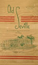 1940and039s Old Seville Restaurant And Gift Shop Menu Austin Texas Fred And Ina Leser