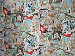 Baseball Cards Allover Springs Creative Collection Cotton Fabrics 15quot; x 44quot;W