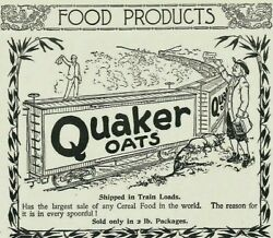 1895 Durkee Train Spice Extract Wheatena Quaker Oats Cereal Print Paper Ads 4307