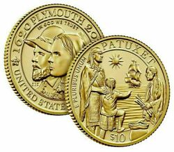 20xc Mayflower 400th Anniversary 10 Gold Reverse Proof 9999 Gold West Point