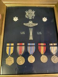 Sterling Silver Ww2 Air Force Lieutenant Colonel Medal Display Make An Offer