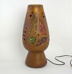 Mid Century French Pottery Accolay Ceramic Vallauris Kostanda Table Lamp
