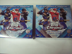 Lot Of 2 2020 Topps Chrome Update Series Sapphire Edition Sealed Boxes