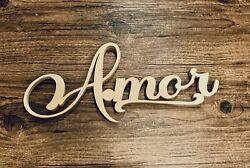 3d In Spanish - Amor Wall Decoration Sign. Finished In Gold