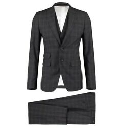 Andpound1880 Dsquared2 Andlsquolondonandrsquo 3-piece Wool Check Tuxedo Suit - Made In Italy