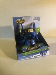 """Super Wings Transforming Jerome Toy Figure Plane Bot 5"""" Scale"""