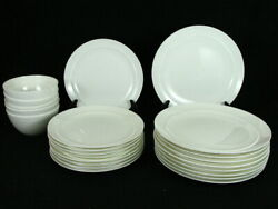 Crate And Barrel Halo 9 Dinner 9 Salad Plates And 5 Cereal Bowls