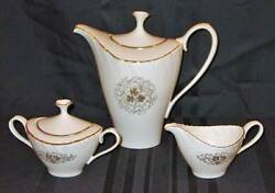 Discontinued Lenox China Orleans Pattern 3 Pc Coffee Pot Cream And Sugar Set New