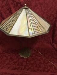 Signed Fredrick Ramond Chandelier Lamp Mission Arts And Crafts Style