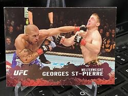 2009 Topps Ufc Round 2 Georges St-pierre Buyback Originals 2015 Chronicles Rare