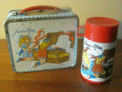 1973 Junior Miss Lunch Box By Aladdin W/ Thermos Vintage Metal Lunchbox