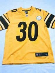 New Nike Youth Boys' Pittsburgh Steelers 30 Conner James Jersey, Yellow, Sz S. 8
