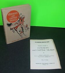 Cowboys And Cattle Trails American Adventure Series Vintage 1948 Hb With Guide