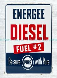 Pure Energee Diesel Metal Tin Sign House And Home Decorating