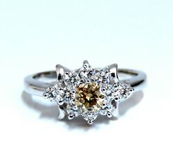 .40ct Natural Fancy Color Yellow Brown Diamond Ring 14kt