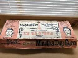 Vintage Mickey Mantle Minute A Day Gym 1960and039s Exercise Instructions Included.