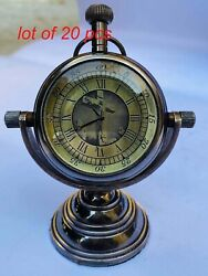 Vintage Nautical Beautiful Brass Table Top Clock With Stand Home/office Decor