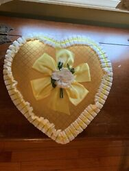 Vintage Moir's Yellow Valentine Heart Candy Box
