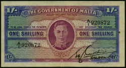 Malta P.16 1940-1943 1 Shilling Banknote First Series Gef A/1
