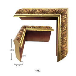 Custom Picture Frame 4512   1 1/4w 3 3/4h 2 7/8r Ornate Gold   Great For Cheri