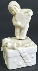 Dept 56 Snowbabies I Love You From The Bottom Of My Heart Valentine's Music Box