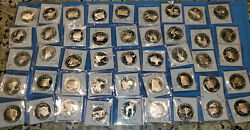 Franklin Mint -- Sterling Silver .925 Pf State Quarters