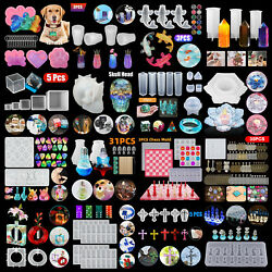 DIY Silicone Resin Casting Mold Keychain Jewelry Pendant Epoxy Craft Mould Tool