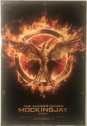 The Hunger Games Mockingjay Part 1 Original 27 X 40 Ds Movie Poster - 2014
