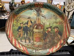 Vintage Old Pepper Whisky Lexington Kentucky Metal Tray Sign-revolutionary War S