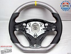 Bmw E70 X5m E71 X6m Dct Yellow Ring Small Thick Silver Carbon Steering Wheel V2
