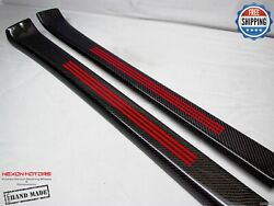 Mercedes W197 Sls Roadster Only Carbon Door Sills Outer Section Red Line/stripes